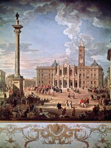 Piazza and Church of Santa Maria Maggiore, 1742 by Giovanni Paolo Pannini