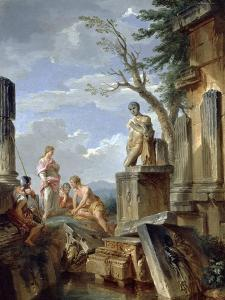 Ruins with a Sibyl and Other Figures, C.1720 by Giovanni Paolo Pannini