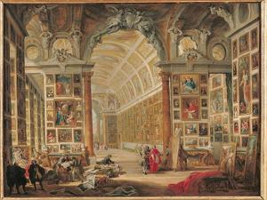 The Gallery of Cardinal Silvio Valenti-Gonzaga in Rome, 1749 by Giovanni Paolo Pannini