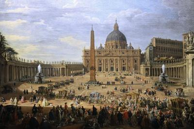 The Output of the Duke of Choiseul (1719-1785) of St. Peter's Square in Rome