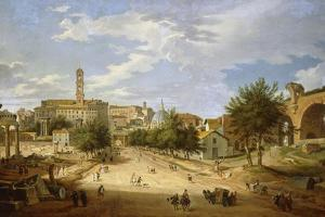 The Roman Forum and the Campidoglio Seen from the Arch of Constantine, 1751 by Giovanni Paolo Pannini