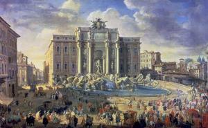 The Trevi Fountain in Rome, 1753-56 by Giovanni Paolo Pannini