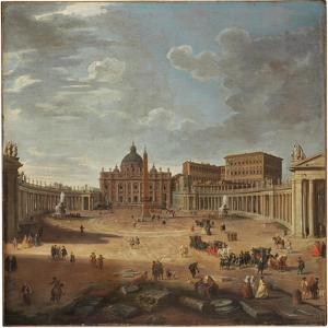 View of St. Peter's Square, Rome by Giovanni Paolo Pannini
