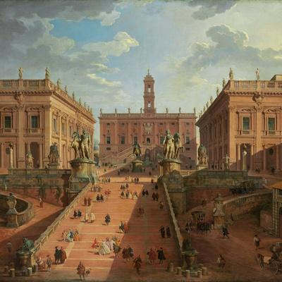 View of the Campidoglio, Rome, 1750