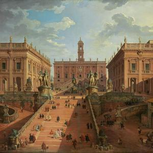 View of the Campidoglio, Rome, 1750 by Giovanni Paolo Pannini