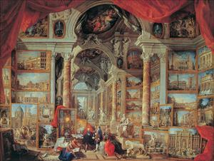 Views of Modern Rome, 18th Century by Giovanni Paolo Pannini