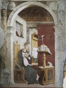 Annunciation, Fresco by Giovanni Pietro Da Cemmo