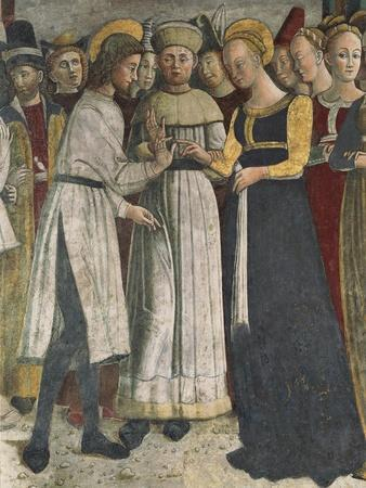 Marriage of Virgin, Detail of Fresco from 1475