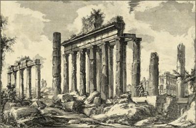 Vintage Roman Ruins I by Giovanni Piranesi