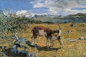 Alps in May (The Loving Mother) by Giovanni Segantini