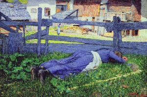 Rest in the Shade by Giovanni Segantini