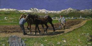 The Plough. (L'Aratura), 1887/1890 by Giovanni Segantini