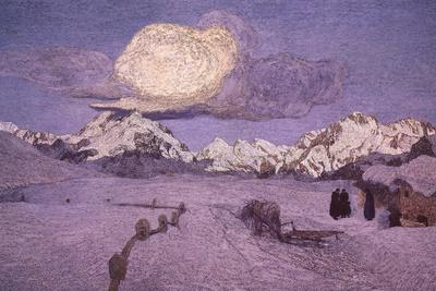 Triptych of the Alps, Death, Ca 1898