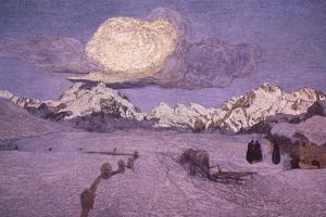 Triptych of the Alps, Death, Ca 1898 by Giovanni Segantini