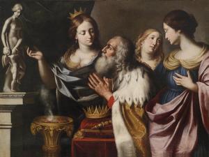 King Solomon's Wives Lead Him into Idolatry by Giovanni Venanzi di Pesaro