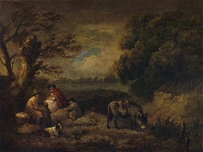 Gipsies resting with Donkey, 1795-George Morland-Giclee Print