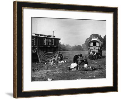 Gipsy Encampment Meal--Framed Photographic Print