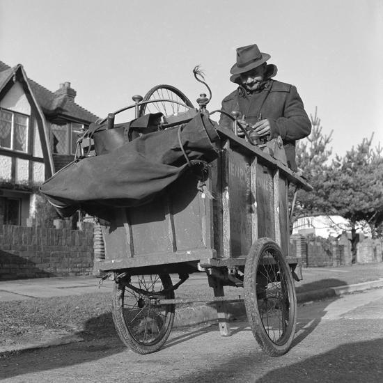 Gipsy knife-grinder, Horley, Surrey, 1963-Tony Boxall-Photographic Print