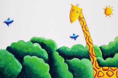 Giraffe and Birds, 2002-Julie Nicholls-Giclee Print