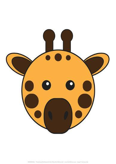 Giraffe - Animaru Cartoon Animal Print-Animaru-Giclee Print