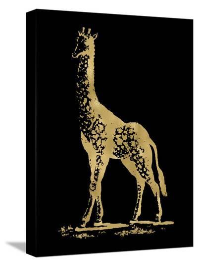 Giraffe Golden Black-Amy Brinkman-Stretched Canvas Print