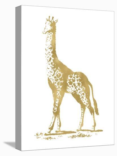 Giraffe Golden White-Amy Brinkman-Stretched Canvas Print