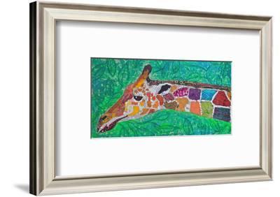 Giraffe Green--Framed Art Print