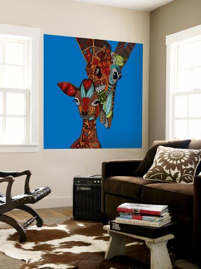 Giraffe Love-Sharon Turner-Wall Mural