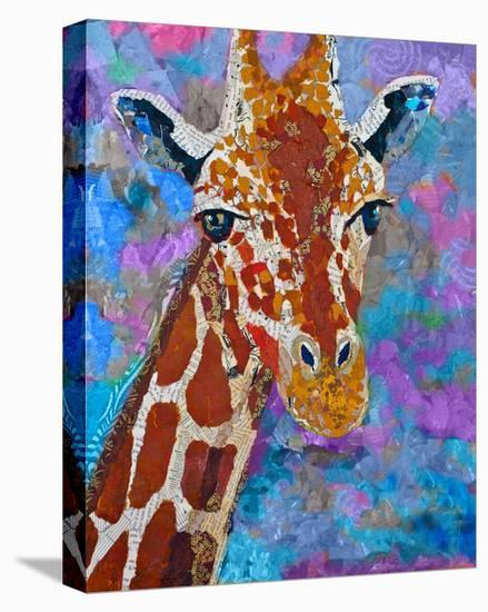 Giraffe Retouched--Stretched Canvas Print