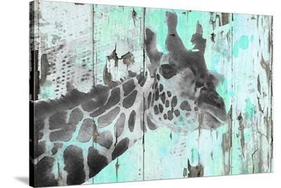 Giraffe Taking A Look--Stretched Canvas Print