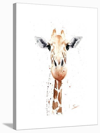 Giraffe Watercolor-Eric Sweet-Stretched Canvas Print