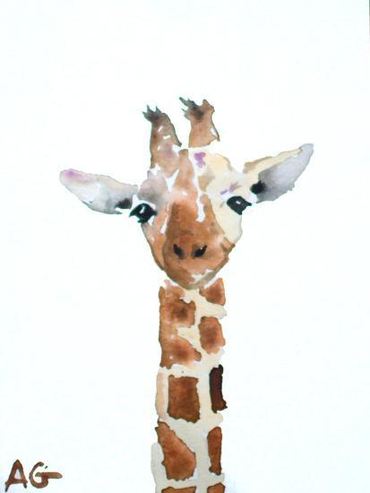 Giraffe-Allison Gray-Art Print