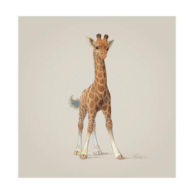 Giraffe-John Butler Art-Giclee Print