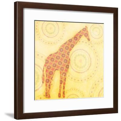 Giraffe--Framed Premium Giclee Print