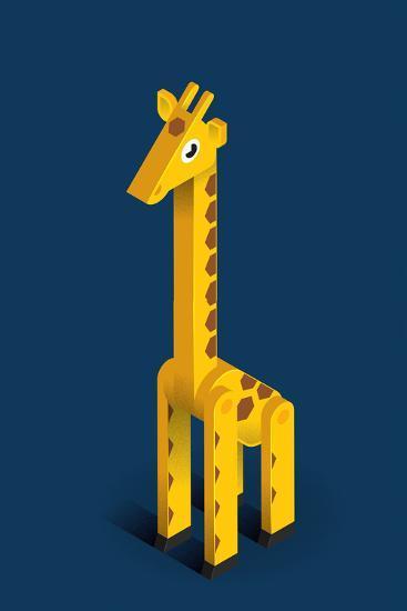 Giraffe-Bo Virkelyst Jensen-Art Print