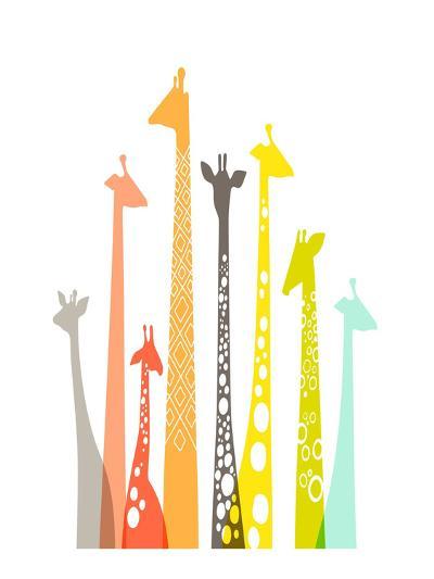 Giraffes-The Paper Nut-Art Print