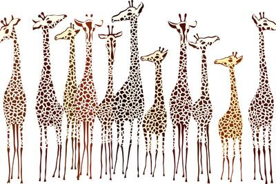 Giraffes-Milovelen-Art Print