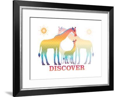 Giraffes-Mindy Howard-Framed Giclee Print