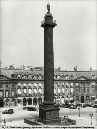 Place Vendome (1685-1708) with the Column Built by Denon, Gondouin and Lepere in 1806-10, 1926