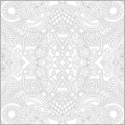 Girih Mosaic Style Coloring Art