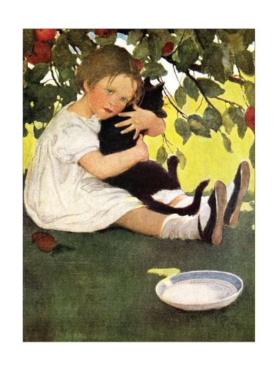 Girl and Cat-Jessie Willcox-Smith-Art Print
