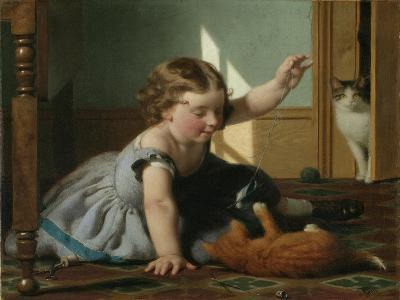 Girl and Kitten-Seymour Joseph Guy-Giclee Print