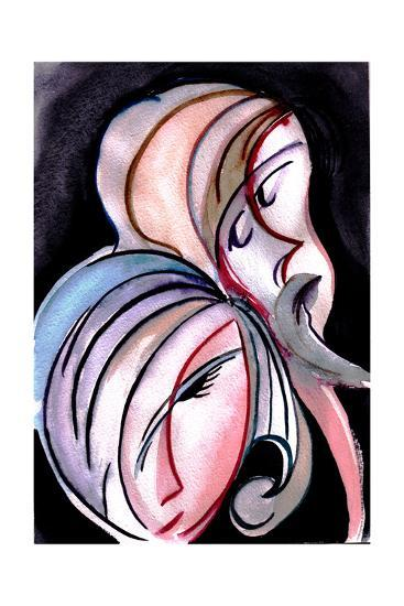 Girl and Man-krimzoya46-Art Print
