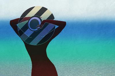 Girl and on the Beach-vipa21-Art Print