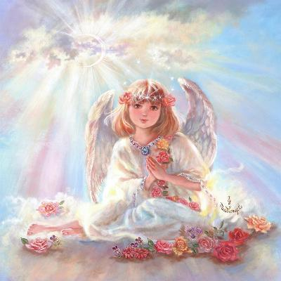 Girl Angel on Cloud-Judy Mastrangelo-Giclee Print
