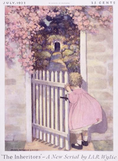 Girl at the Garden Gate--Giclee Print