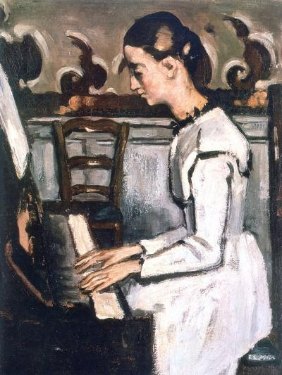 Girl at the Piano, the Overture to Tannhauser, Detail, 1868-Paul C?zanne-Giclee Print