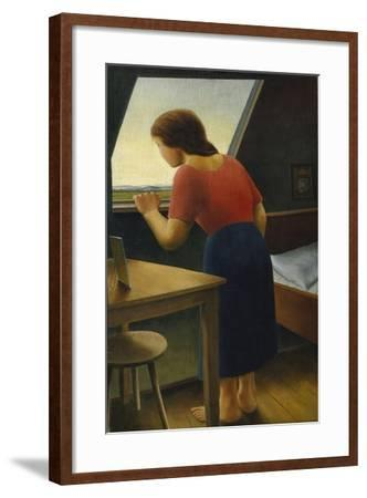 Girl at the Window, 1924-Georg Schrimpf-Framed Giclee Print