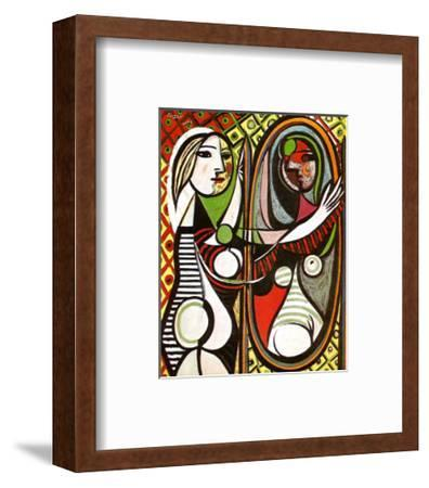 Girl Before a Mirror, c.1932-Pablo Picasso-Framed Art Print