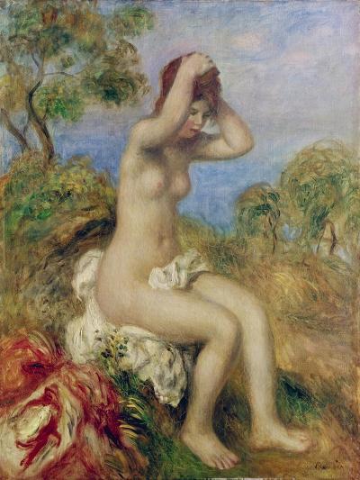 Girl by the Sea-Pierre-Auguste Renoir-Giclee Print